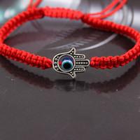 ingrosso gioielli male blu occhio-New Hamsa Red String Thread Blu Turco Evil Eye Braccialetti Charm per le donne Fatti a mano Lucky Fatima Amulet Amulet Jewelry Gift