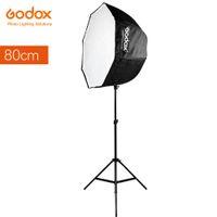 подставка для софтбокса оптовых-Оптовая фотостудия 80 см 31.5 in портативный восьмиугольник softbox зонтик Бролли отражатель для вспышки Speedlite Флэш-вспышки+2 м свет стенд
