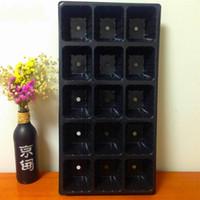 ingrosso vassoi da vaso-Vaso di propagazione nero Pianta di germinazione Scatola di coltivazione 15 buche Vivaio Forniture da giardino Vendita calda 1 78 g C C