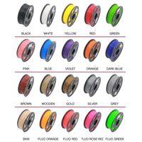 3d druckermaterialien großhandel-20 Farbe 3D Drucker Filament ABS / PLA 1.75mm 5M Kunststoff-Gummi-Verbrauchsmaterial Material Stift 3d