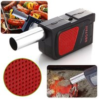 Wholesale fire barbecue - Outdoor Cooking BBQ Fan Air Blower For Barbecue Fire Bellows Hand Crank Tool Picnic Camping BBQ GGA220 20PCS