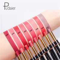Wholesale nude lipstick free shipping for sale - Group buy 16 Colors PUDAIER Waterproof lipstick Dual head lipliner in lip liner lip stick pencial Nude Matte Glossy Lipstick DHL