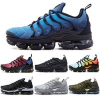 Wholesale Men Red Sole Shoes - Vapormax TN Plus VM Air Sole Men Women Designer Running Shoes In Metallic Newest Athletic Sport Sneakers Fashion Gradient Outdoor West Boost