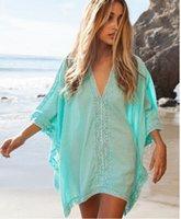 Wholesale Model Value - Summer Swimsuit Women Beach Skirt Sport Cover-Ups Women's Swimwear Artificial Cotton Side Blouses Swimsuit Value Explosion Models