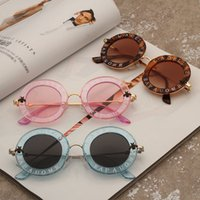 Wholesale Black House Letters - 2018 NEW FASHION Sunglasses Bees GG House Of Holland Letter Men Sunglass Woman Retro Round Eyewear Ladies UV400 Goggles