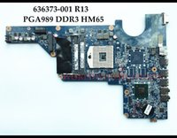 Wholesale video card motherboard - High quality 636373-001 For HP Pavilion G4-1000 G6-1000 G7-1000 Laptop Motherboard R13 HM65 PGA989 DDR3 Without Video Card Test