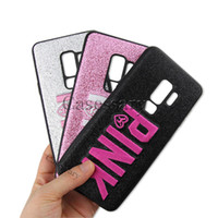 Wholesale embroidery cases iphone - 2018 Fashion Design Glitter 3D Embroidery Love Pink Phone Case For iPhone X, iPhone 8, Samsung S9, S9 Plus, 3 Colors