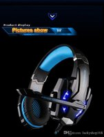 Wholesale cheap computer wholesalers - New Cheap Kotion Each G9000 Gaming Headset Headphone 3.5mm Stereo Jack with Mic LED Light for PS4 Tablet Laptop Cell Phone DHL