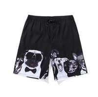 aa00a8abc1 Quick Dry Summer Men Print Cute Dog Beach Board Shorts Surf Siwmwear Briefs  Boxers Bermudas Swim Trunks For Athletic Mens Running Gym Shorts