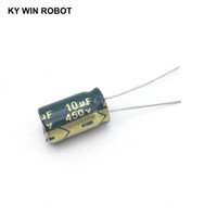 450v 4.7uf 450volt 4.7mfd 105c aluminum electrolytic capacitor 8mm×12mm new