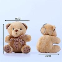 Wholesale Wholesale Big Plush Teddy Bear - Teddy Bear Plush Toys Key Chain 10cm Stuffed Animals Dolls for Mobile Phone Keychains Mini Bear Plush Toy Gift