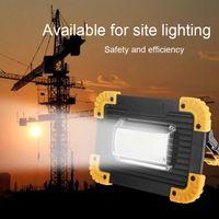ingrosso proiettori del prato-20W 400LM LED Luce di ricarica USB Proiettore portatile Faretto Proiettore Lampada da campeggio all'aperto Lampada da lavoro per prato Bianco freddo