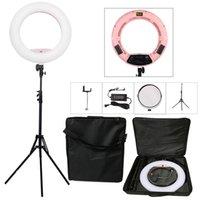 camara de video rosa al por mayor-Yeroblo Pink FS-480II 5500K Cámara regulable Foto / Estudio / Teléfono / Video 18