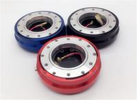 volante de carreras de aluminio al por mayor-Coche de carreras del volante de aluminio Car Auto 6 agujeros de liberación rápida Hub adaptador rojo / negro / azul