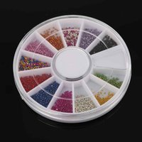 стильные телефонные наклейки оптовых-12 Colors 3D Nail Rhinestones Stickers 2mm Acrylic Nail Art Rhinestones Decoration For UV Gel Phone Laptop DIY Tools WOpZ