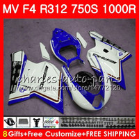 Wholesale mv agusta f4 abs for sale - Group buy Bodywork For MV Agusta F4 R new white blue CC HM76 R312 S R MA MV F4 Fairing