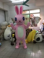 Wholesale High Quality Rabbit Costume - 2018 High quality hot lovely rabbit cartoon doll Mascot Costume Free shipping