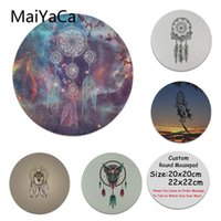 Wholesale dreamcatcher design - MaiYaCa New Designs Dreamcatcher Laptop Gaming Mice Mousepad DIY Painted Beautiful Mousepad