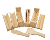 japanese quality tools 2018 - DIY Japanese Beech Wooden Sushi Maker Rice Mold Set Sushi Mould Kitchen Rice Making Tool High Quality Eco-friendly 10pcs