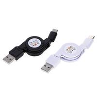 sincronización de cargador retráctil al por mayor-Retractable USB 3.1 Tipo C Data Sync Cargador Cable para Samsung para otros teléfonos Android