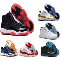 Wholesale metallic denim fabric - 2018 new 11 XI Basketball shoes men and women white Olympic Concord Gamma Blue Varsity Red Navy Gum Sneaker Metallic Gold sneakers