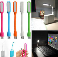 Wholesale Style Laptops - Mini USB LED Light Lamp Car-styling Reading Lamp Computer Keyboard Reading Notebook PC Laptop EEA211 100pcs
