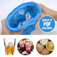 Wholesale blue tongs resale online - 12 cm New Ice Buckets Maker Genie The Revolutionary Space Saving Ice Cube Maker Ice Genie Kitchen Tools I199