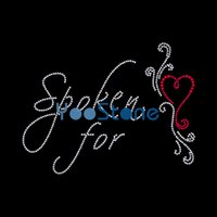 Wholesale heart rhinestone transfer resale online - For Sale Spoken For Heart Rhinestone Applique Iron On Transfers