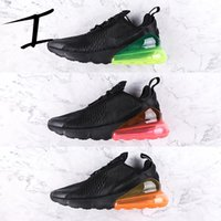 Wholesale Cheap Shoes Colors - 2018 High Quality Flair 270 Fashion Men Women Running Sports Shoes Triple Blakc Hot Punch Teal 11 Colors Knitting 270s Comfortable Cheap