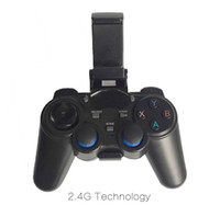 Wholesale 1pcs by Post G Wireless Game Controller Gamepad Joystick mini keyboard remoter for universal TV box and Smartphone GR1 w phone supporter