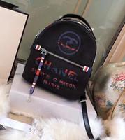 koreanischer segeltuchschultaschenrucksack großhandel-Neue Ankunft Leinwand Brief Muster Frauen Koreanischen Stil Mode Stilvolle Schule Rucksäcke Für Mädchen Designer Tasche