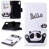 Wholesale note sumsung online – custom Unicorn Panda PU leather wallet Case Kickstand and Flip Cover Case for iPhone Xs Max XR S Plus Sumsung S8 S9 S10E Plus Note