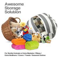 Wholesale modern bean bag chairs resale online - 24 inch Modern Storage Stuffed Animal Storage Bean Bag Chair Portable Kids Toy Storage Bag Play Mat Organizer Tool design KKA3656
