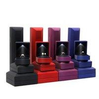 ingrosso scatole di ornamento favorevoli-Originalità LED lampada anello scatola gioielli imballaggio ciondolo collana ornamenti scatole regalo forniture favore di partito di alta qualità 10 5xm4 ff