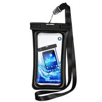 водонепроницаемая сумка для фото оптовых-IPX8 Водонепроницаемый чехол Универсальный 6-дюймовый чехол для мобильного телефона для плавания и съемки под водой для Iphone X XR XS MAX Sumsang