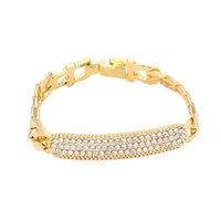 Wholesale metal hand wrist cuffs for sale - Group buy 2018 New Fashion Women Gold Sliver Alloy Link Chain Crystal Wrist Bracelet Trendy Firm Metal Perfect Cuff Hand Bracelets Jewelry