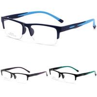 Wholesale optic designs resale online - Optics Spectacle Frame New Half Frames Myopia Glasses Creative Design Non Slip Silicone Square Eyeglasses Multi Color cr C