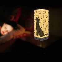 neuheit führte kind lampe groihandel-Neuheit 3D-Lichter LED-Lampe Schatten Doberman Nachtlichter Hund Dekoration Leuchten Tisch LED-Licht als Geschenk für Kinder Großhandelsdropshipping