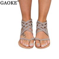Wholesale Wholesale Quality Flip Flops - Women Shoes Sandals Comfort Sandals Summer Flip Flops Fashion High Quality Cross Strap Flat Gladiator Sandalias Mujer