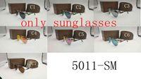 Wholesale fishing sunglasses - brand new sunglasses 5011 men women Sunglasses big frame metal sunglasses driving fishing