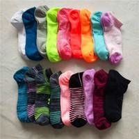Wholesale cashmere socks wholesale - Women Ankle Socks U&A Under Football summer slipper Socks Girls Low-cut brand Sock Sports Skateboard Sock armor ua stocking 2018