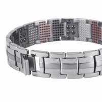 mann reines gold armband großhandel-Hottime Männer Schmuck Healing magnetische Armreif Balance Gesundheit Armband Silber Reine Titan Armbänder Spezielle Design für Männer 10212