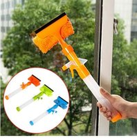 Wholesale cloth dust roller resale online - New Multifunction Home Tools Spray Water brush cleaner Glass cleaning brush Glass wiper window cleaner with Cloth Pad Colors