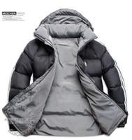 weiße, geschwollene jacke großhandel-Habe LOGO !! neue Mode Heißer verkauf Neueste Design Männer Daunenjacke männer Winter Mantel Outdoor Mäntel Kleidung jaqueta