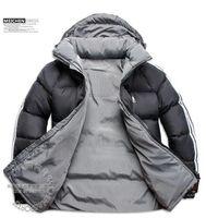 overcoat design toptan satış-LOGO var! Yeni Moda Sıcak satış Yeni Tasarım Erkekler Aşağı Ceket erkek Kış Palto Açık Palto Giyim jaqueta