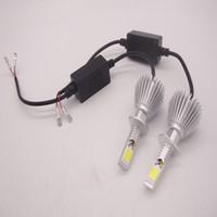 kit led blanco al por mayor-Las bombillas de la lámpara del coche del faro del LED ocultaron el xenón 6000k El precio de fábrica blanco 2pcs H1 H7 H3 9005 9006 200W 20000LM equipan la luz