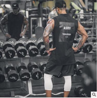 Wholesale mens sports singlets for sale - Group buy Brand Fitness Clothing Gyms singlets Men Tank Tops New Trend Mens Bodybuilding Stringers Tanktop workout golds Sporting Sleeveless T Shirt