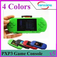 Wholesale Gba Box - 5PCS 16 Bit Video Games Player PXP3 Slim Station Pocket Game Handheld Game Console+Dual sim Card+ Gift Box! YX-PXP3