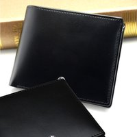 Wholesale business card gifts online - Luxury MB wallet Hot Leather Men Classic Wallet Short wallets MT purse card holder wallet High end gift box package