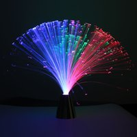 Wholesale Change Table Lamp - LED Color Changing Fibre Optic Night Light Desk Table Lamp Relaxing Battery Power Family Holiday Christmas Gift Home Decor